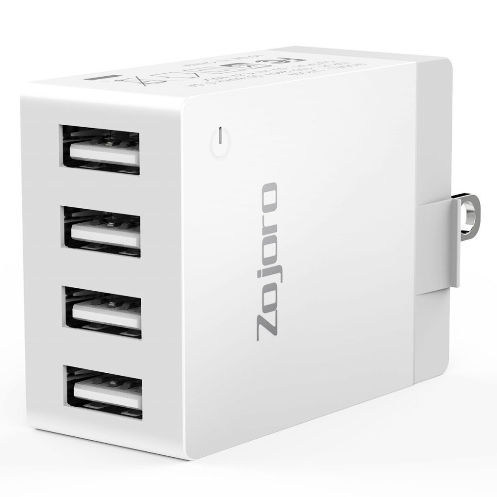 7. Zojoro USB Wall Charger, 40W 4-Port Wall Charger, Multi-Port USB Charger
