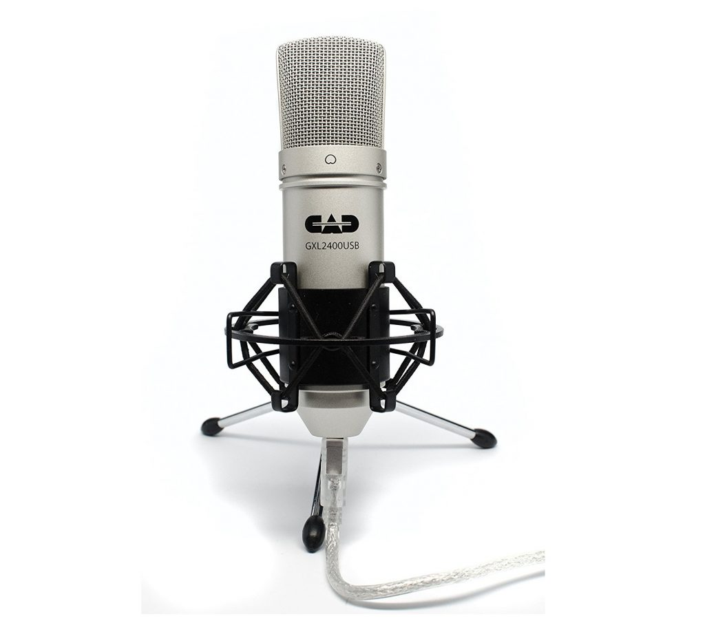 8. CAD GXL2400 USB Microphone for Recording Podcast and Gaming with Shock Mount