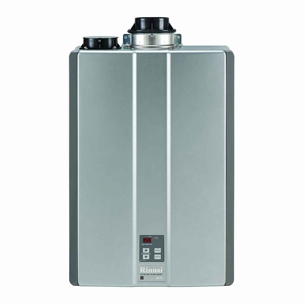 8. Rinnai RUC98iN Ultra Series Natural Gas Tankless Water Heater, Concentric