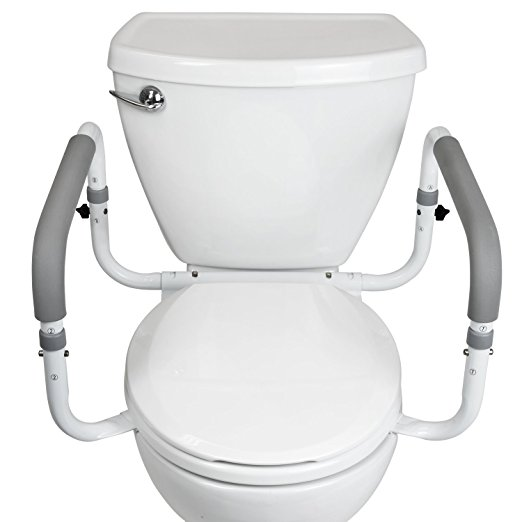 8. Toilet Safety Frame by Vive - Adjustable, Compact Support Hand Rails for Bathroom Toilet Seat - Easy Installation for Handicap Senior Bariatrics & E