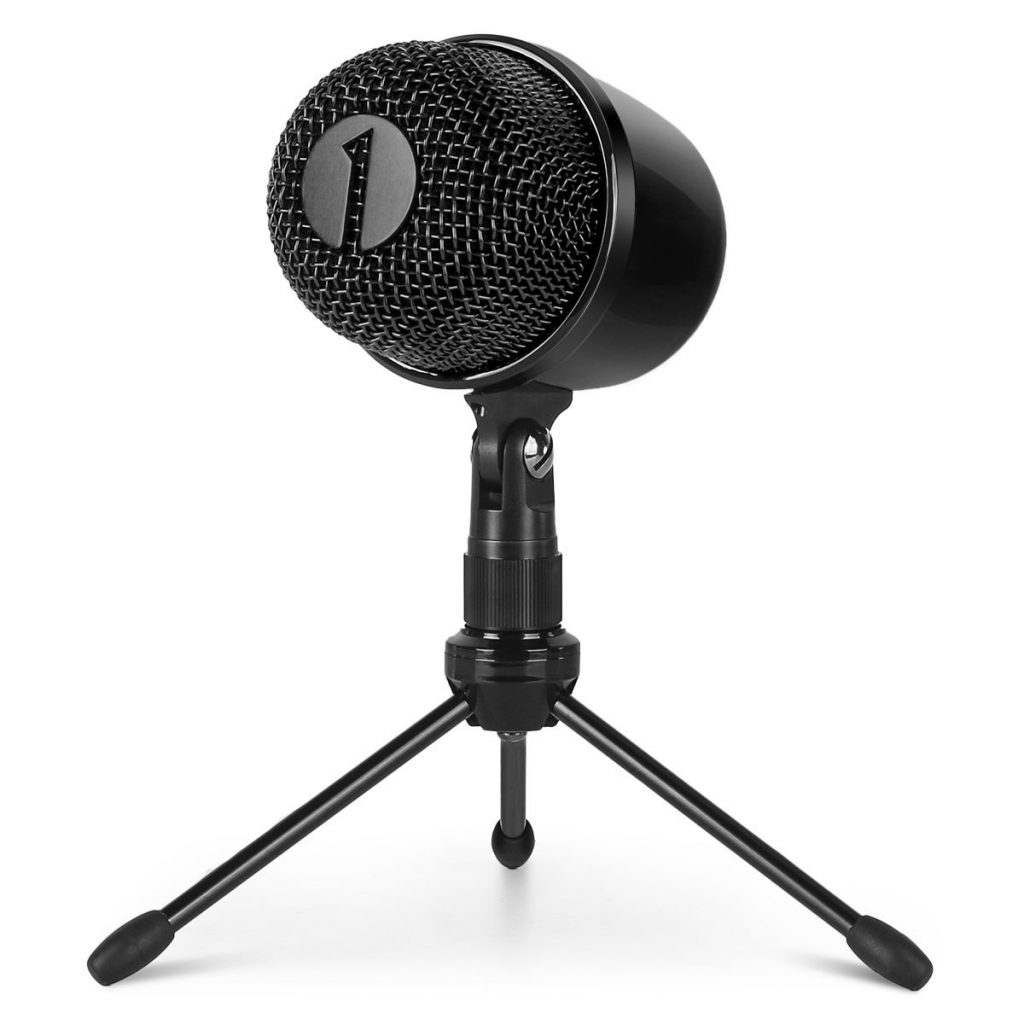 9. 1byone USB Microphone with Tripod, Mute Button with LED, Plug & Play Cardioid Condenser USB Microphone