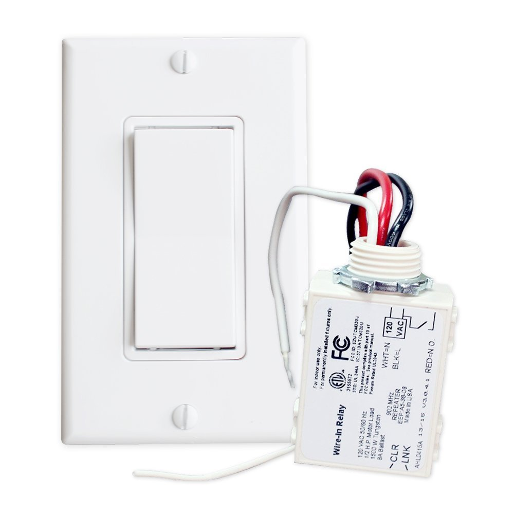 9. imple Wireless Switch Kit Move or add a light switch in any location! Use this Self-Powered Rocker Switch