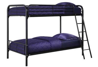 3. DHP Twin-Over-Twin Bunk Bed with Ladder