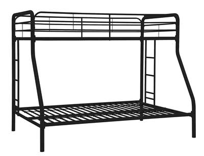 1. DHP Twin-Over-Full Bunk Bed with Ladder