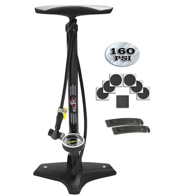 1. Kolo Sports Bicycle Pump with High Pressure Inflation