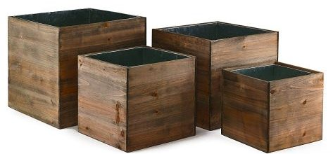 CYS EXCEL - Cube Wood Planter Box