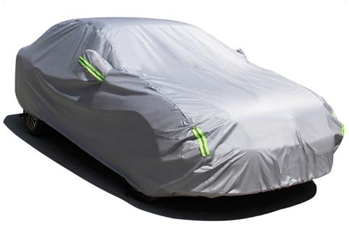 "MATCC Car Cover Waterproof Auto Cover All Season All Weather Protection Vehicle Cover Fits Sedan (185"" Lx70 Wx60 H)"