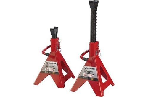 Strongway Double-Locking Jack Stands - Pair, 6-Ton Capacity, 15 5/16in.-23 13/16in. Lift Range