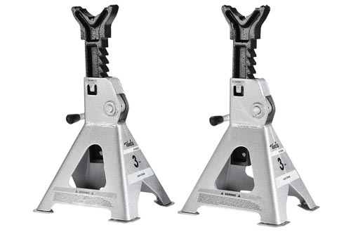 TONDA 3 TON Steel Jack Stand, 1 Pair (12.2-18 inches Lift Range)