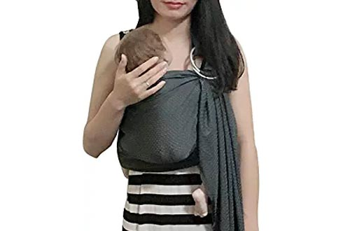 Vlokup Baby Water Ring Sling Carrier | Lightweight Breathable Mesh Baby Wrap for Infant, Newborn, Kids and Toddlers | Perfect for Summer, Swimming, Pool, Beach | Great for Dad