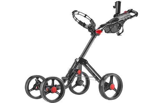 CaddyTek Superlite Explorer 4 Wheel Golf Push Cart, Dark Grey