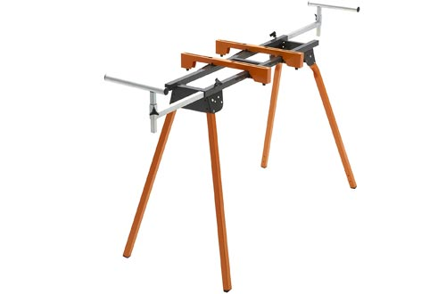 """Folding Miter Saw Stand PM-4000 Bora Portamate – Heavy Duty 36"""" Work Height Miter Saw Stand with Quick Attach Mount, 13"""" Support T's and 500 lb. Capacity"""