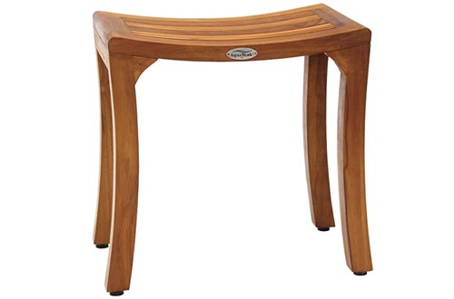 """Patented Asia Curve 18"""" Teak Shower Benches"""