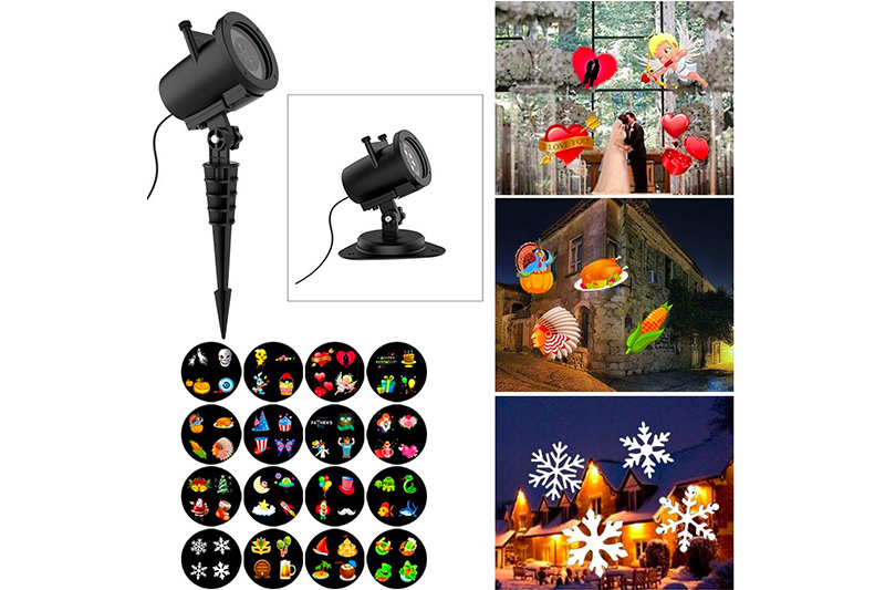 Christmas Projector Lights, 16 Slides Waterproof IP65 Outdoor Landscape 6W Motion LED Projection Lights