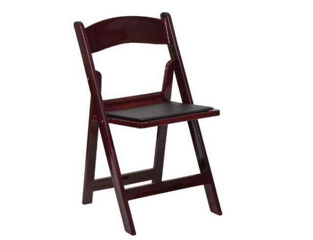 1. Flash Furniture HERCULES Series 1000 lb. Capacity Red Mahogany Resin Folding Chair with Black Vinyl Padded Seat- Best Wooden Folding Chairs