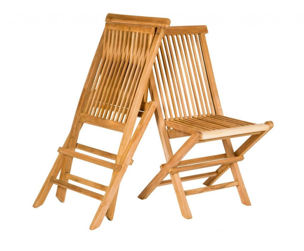 10. Yankee Trader Set of 2 Traditional Teak Folding Wooden Chairs for Outdoor Patio, Backyard or Garden