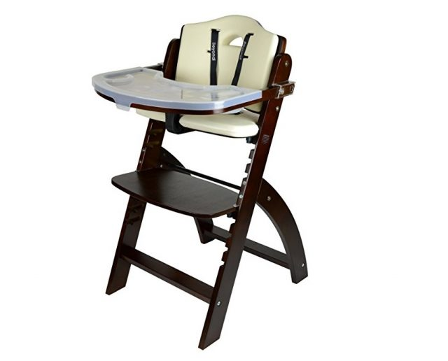 2. Abiie Beyond Wooden High Chair With Tray