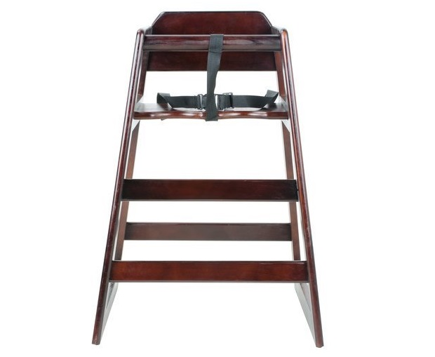 3, Excellante' Wooden High Chair, Walnut (Packaging May Vary)
