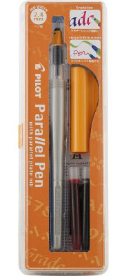 Pilot Parallel Pen 2-Color Calligraphy Pen Set, with Black and Red Ink Cart