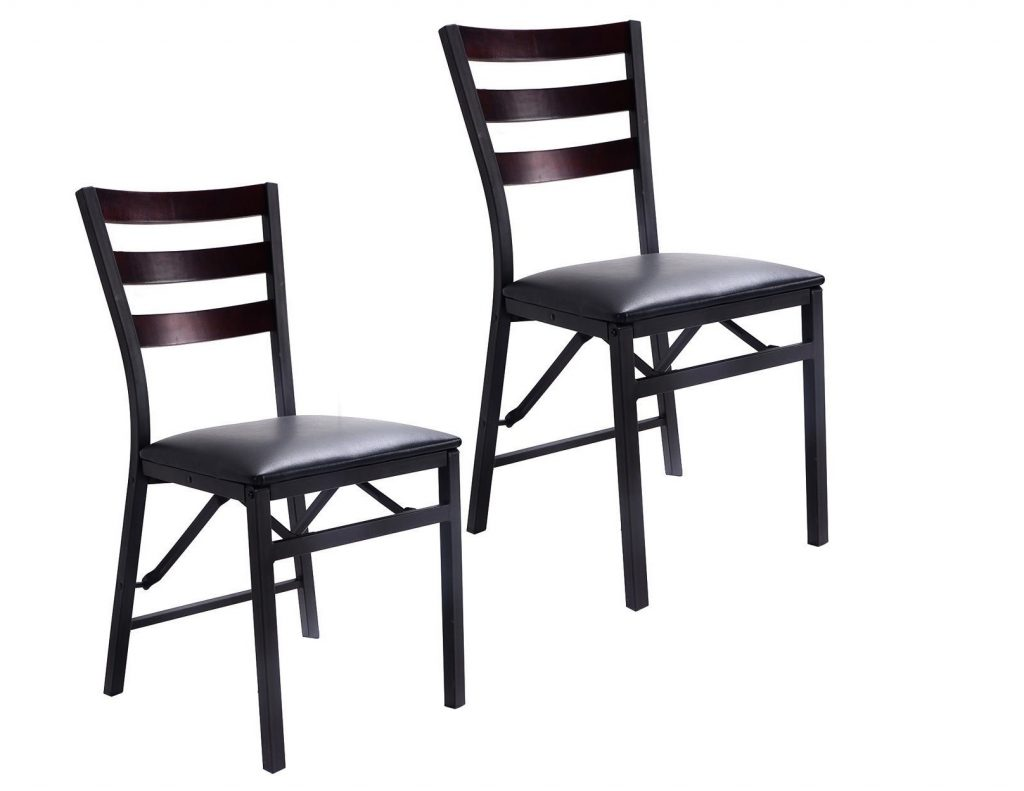 5. Giantex Set of 2 Wood Folding Chair Dining Chairs Home Restaurant Furniture Portable