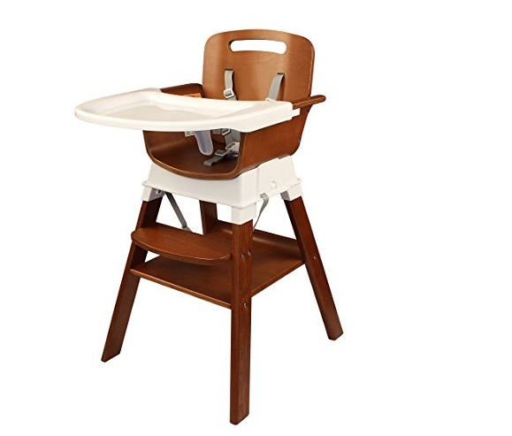 6. Spuddies 4 in 1 Deluxe Wooden High Chair, Beech