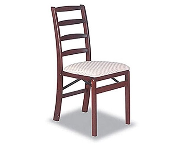 7. Shaker Ladderback Wood Folding Chair in Cherry Finish - Set of 2