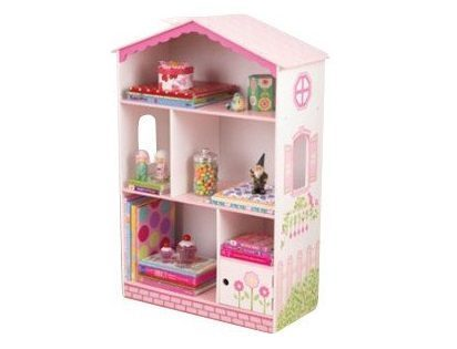 9. Dollhouse Bookcase 38 Wooden Cottage Kids Indoor Furniture Storage Books Girls Fun Toys