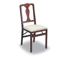 9. Folding Wood Chairs Cherry Finish - Classic (Set of 2)