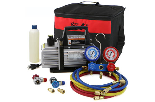 Air Vacuum Pump HVAC A/C Refrigeration Kit