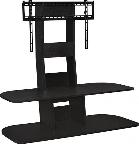 """Ameriwood Home Galaxy TV Stand with Mount for TVs up to 65"""" Wide, Black-TV Stands with Mount"""