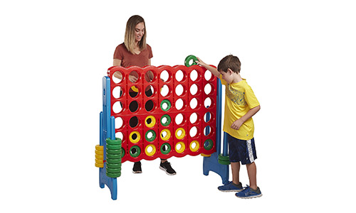 1. ECR4Kids Jumbo 4-To-Score Oversized Game for Kids and Adults