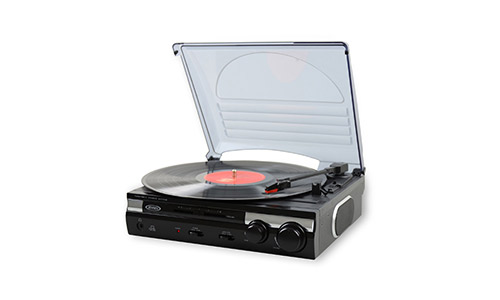 1. ensen JTA-230 3 Speed Stereo Turntable with Built in Speakers