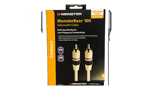 6. Monster Cable Essentials Powered Subwoofer Cable 12 foot MESW12