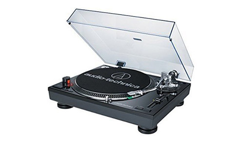 7. Audio Technica AT-LP120BK-USB Direct-Drive Professional Turntable