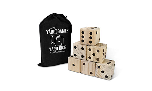 4. Giant Wooden Yard Dice
