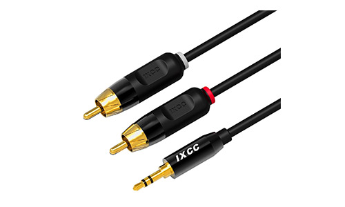 5. RCA Cable, iXCC 6ft Dual Shielded Gold-Plated 3.5mm Male to 2RCA Male Stereo Audio Y Cable