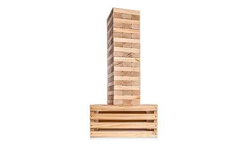8. Splinter Woodworking Co Giant Tower Game | 60 Large Blocks