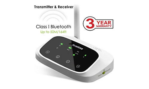 10. Avantree Oasis 164ft LONG RANGE Bluetooth Transmitter and Receiver