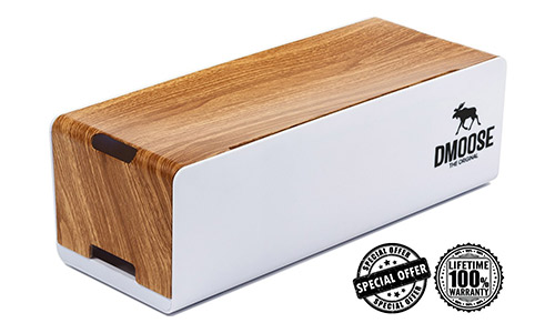 2. DMoose Cable Management Box Organizer