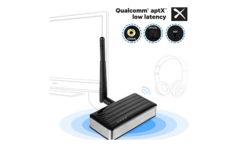 5. TV Bluetooth Transmitter LONG RANGE APTX LOW LATENCY