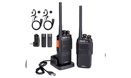2. Tacklife MTR01 Advanced Long Range Two-Way Radio