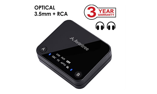 9. Avantree aptX LOW LATENCY support Bluetooth Audio Transmitter
