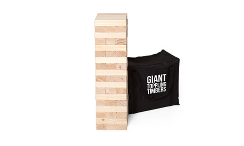 7. Play Platoon Giant Toppling Timbers - Large Tumbling Wood Tower Outdoor Game