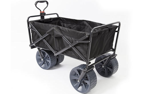 Mac Sports Heavy Duty Collapsible Folding All Terrain Utility Wagon Beach Cart