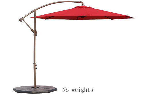 Le Papillon Outdoor Aluminum Offset Patio Umbrella
