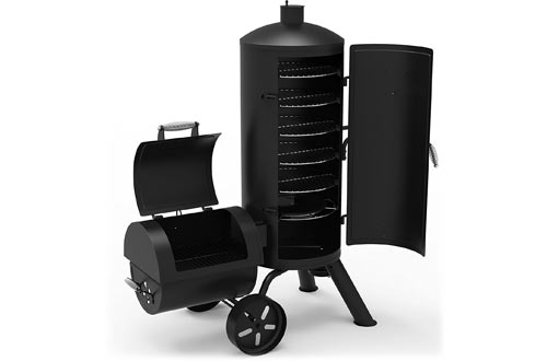 Vertical Offset Charcoal Smoker & Grill
