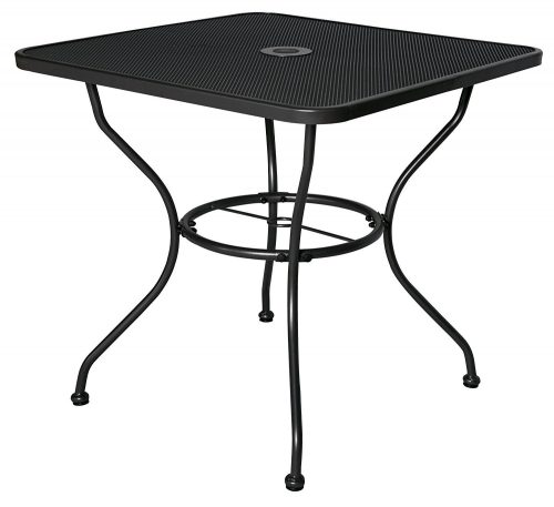 "Cloud Mountain 30"" x 30"" Outoor Dining Table Square Patio Bistro Table Powder-Outdoor Bistro Tables"