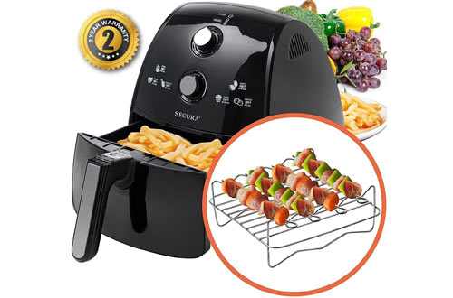 Extra Large Capacity 1500 Watt Electric Hot Air Fryer