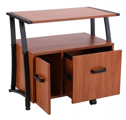 FIVEGIVEN Printer Stand with Storage Cabinet, Machine Stand with File Drawer