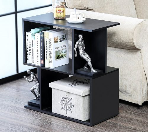 Homury Wood Accent End Side Bedside Table Coffee